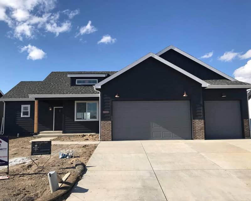 front of grey brick house | crosswinds construction | Gillette, Wyoming