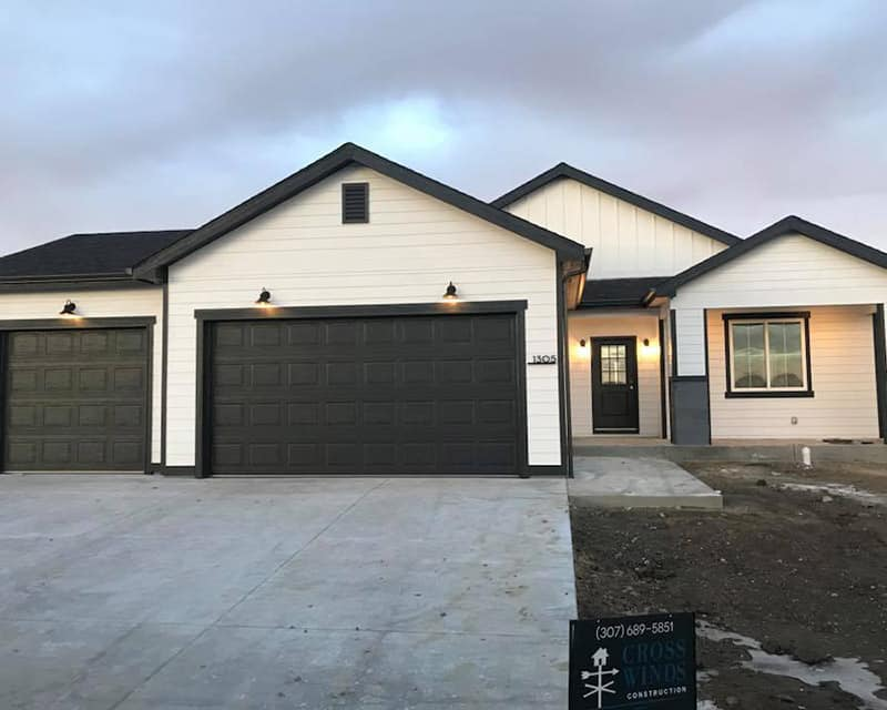 front of finished house | crosswinds construction | Gillette, Wyoming