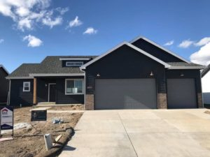 grey brick house | crosswinds construction | Gillette, Wyoming