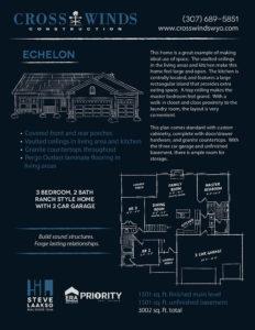 echelon floor plans | crosswinds construction | Gillette, Wyoming