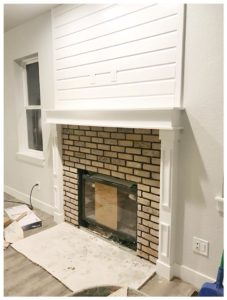 white fire place | crosswinds construction | Gillette, Wyoming