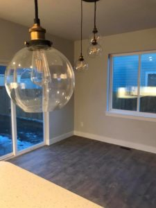 round lights in new home | crosswinds construction | Gillette, Wyoming