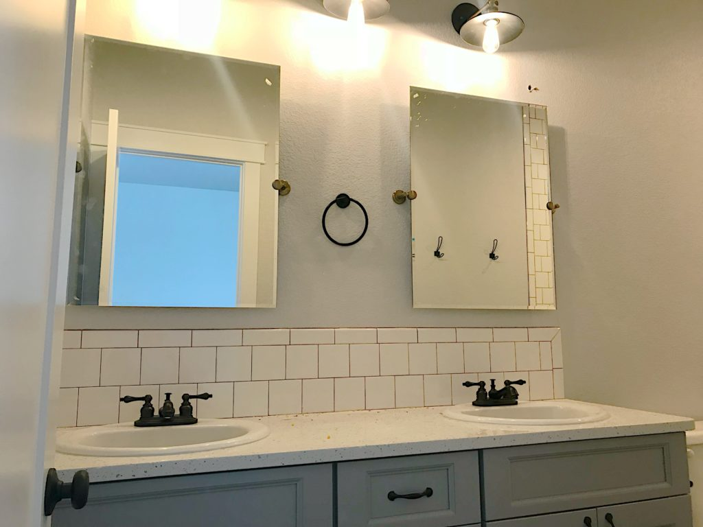 bathroom vanity new construction |crosswinds construction | Gillette, Wyoming