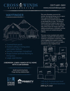 wayfinder floor plans | crosswinds construction | Gillette, Wyoming