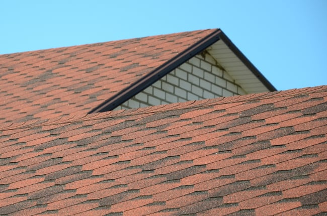 red shingles
