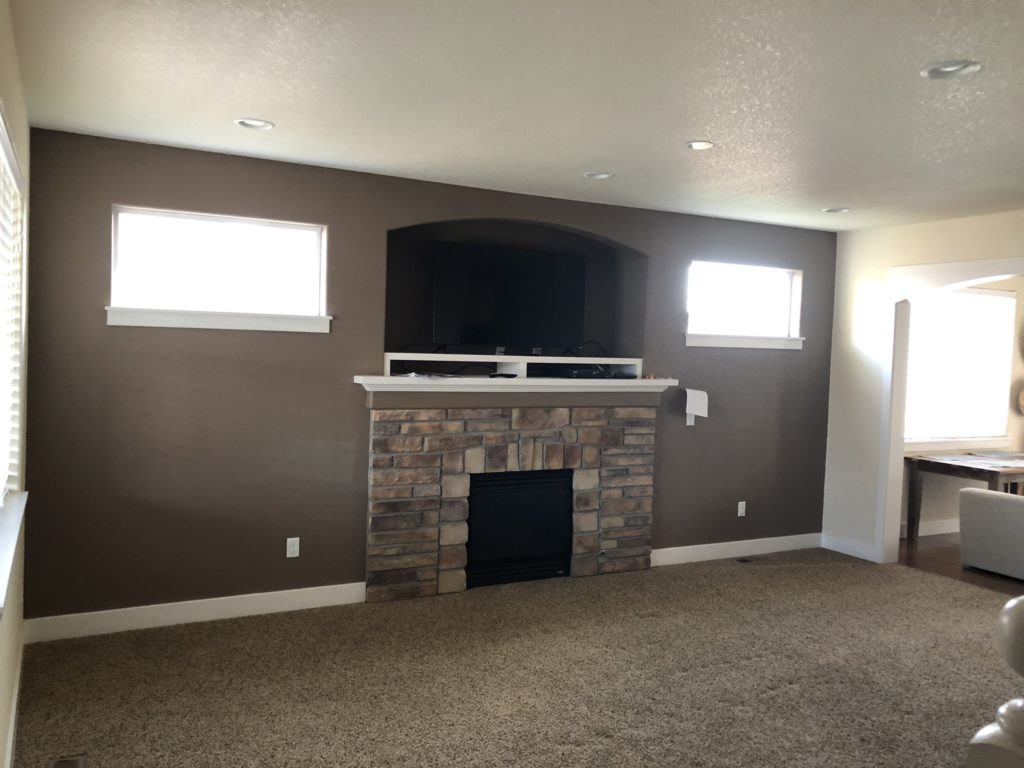 remodeled living room